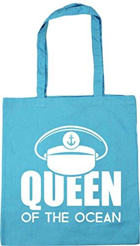 Bag Shopping HippoWarehouse 42cm Tote the x38cm Blue litres Gym Beach ocean Queen 10 Surf of 8z8Za