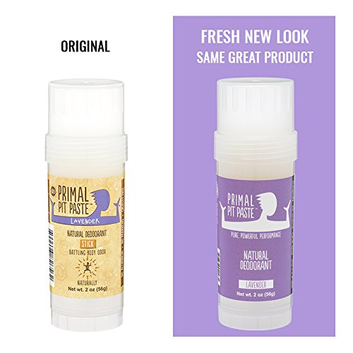 Primal Pit Paste All Natural Lavender Deodorant – Aluminum Free, Paraben Free, Non-GMO, for Women and Men – BPA Free 2 Oz Convenience Stick – Scented with Natural Essential Oils by Primal Pit Paste (Image #4)'
