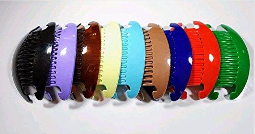9 set Jumbo Banana Comb Clip Thick Hair Riser Claw Interlocking Jaw Extra Multi-color.