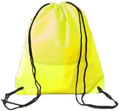 Accessories Drawstring Bags Unisex Drawstring Backpack Yellow Watercolor Circle Casual Portable Sports Gym Bag Travel Storage Bag