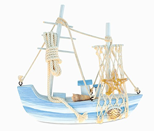 Puzzled Blue Mist Sailboat Handcrafted Wooden Nautical De...