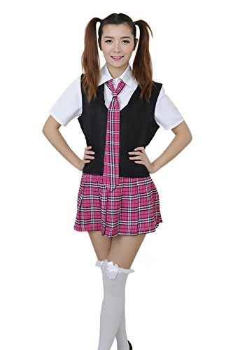 School Girl British - Lemail wig Women's Japanese short-sleeved student uniforms Korean sailor suit CC235A-XL