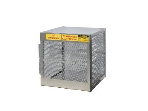 Justrite 23009 Welded Aluminum 4 LPG Cylinder Vertical Locker, 30'' Overall Width x 33-1/2'' Overall Height x 32'' Overall Depth by Justrite
