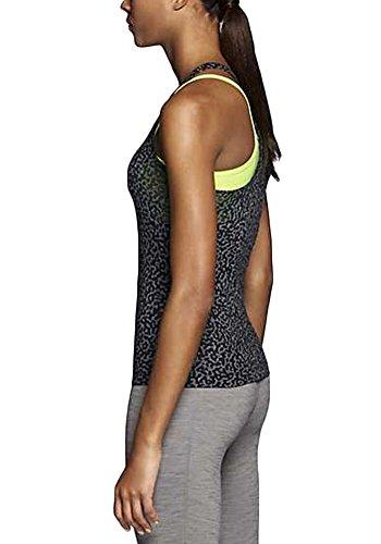 Canotta da allenamento Nike Womens 2-IN-1 Mezzo Nero / Volt