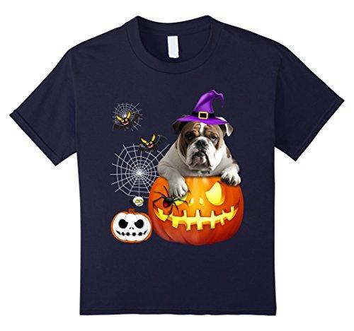 Dog Costumes Old Navy (Kids OLD ENGLISH BULLDOG Halloween T-Shirt 10 Navy)