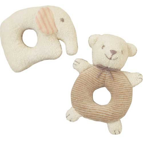 Elephant and Hamanaka rattle bear (japan import) (Rattle Smile)