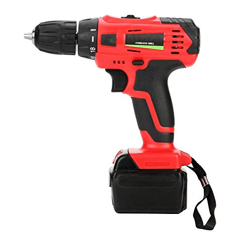 Cordless Drill Hammer Combi - 21V Electric Rechargeable Cordless Drill Screwdriver Set Handheld Tool for Metal Wooden Plastic Drilling Screwing Percussion(US Plug)