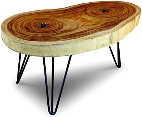 2020 Kinaree LAEM PHO I salontafel - bijzettafel - salontafel - acacia massief hout in 2 varianten Rustiek ca. 45x70-80x60-70cm jaPBZij