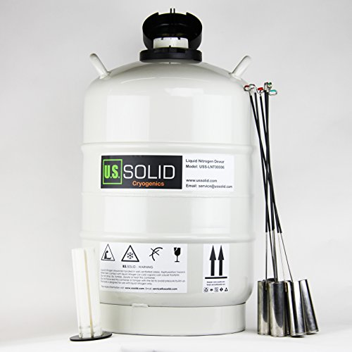 U.S.SOLID 20 L Cryogenic Container Liquid Nitrogen (LN2) Dewar Semen Tank 6 Canisters Carry Bag by U.S. Solid
