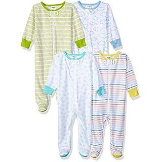Onesies Brand baby girls 4-pack Sleep 'N Play infant and toddler bodysuit footies, Clouds, Newborn US