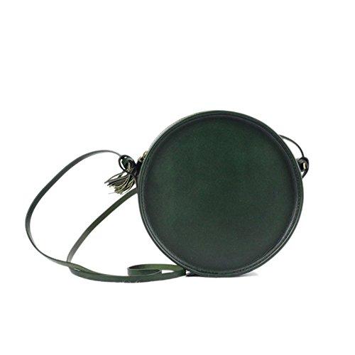 [HIFISH HB100306C3 Genuine Leather Japanese Style Women's Handbag,Round Buns] (Dallas Wholesaler Costumes Jewelry)