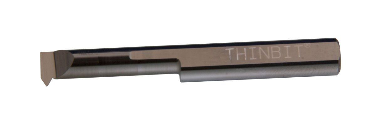 Heavy Duty Elliptical neck and 5//16 Shank THINBIT TT51CR Uncoated Solid Carbide Threading Tool 9 to 56 threads per inch 0.312 Minimum bore 1.069 Reach