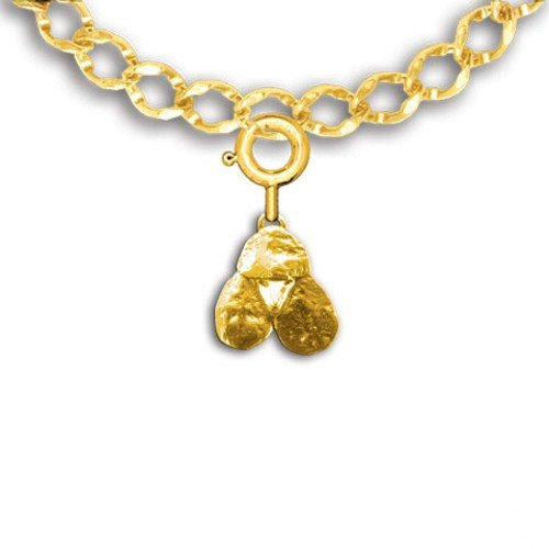 14k Gold Poodle Charm for Charm Bracelet by The Magic Zoo ()