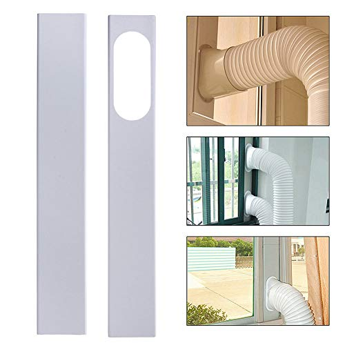 (Wulidasheng 2Pcs Window Slide Kit Plate for Portable Air Conditioner, 84-120cm Adjustable Plastic Replacement Vent Kit Window Seal Set (Hose Connector Not Include))