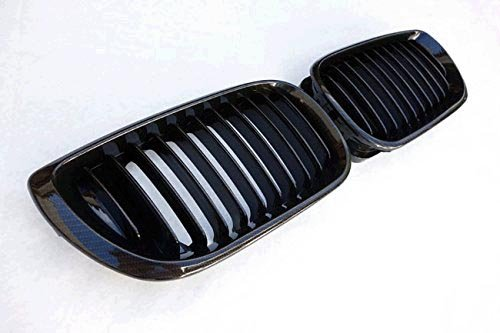 (E46 Grill Carbon Fiber Black Front Kidney ABS Plastic Grill Grille For BMW 3 Sries BMW E46 4 doors 2002-2006)