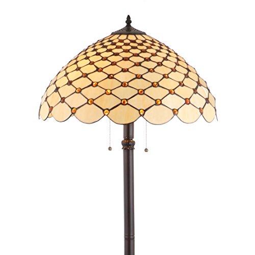 JONATHAN Y JYL8009A Lee Tiffany-Style Floor Lamp, 62
