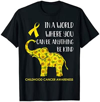 In World Where You Can Be Childhood Cancer Awareness Tshirt