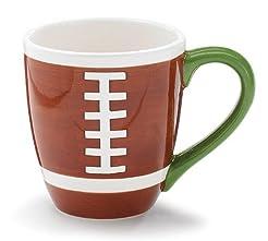 Ceramic Coffee Mug Football 14 Ounces