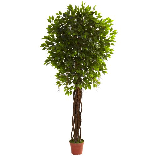 Nearly Natural 5379 Ficus UV Resistant Tree, 7.5-Feet, Green by Nearly Natural
