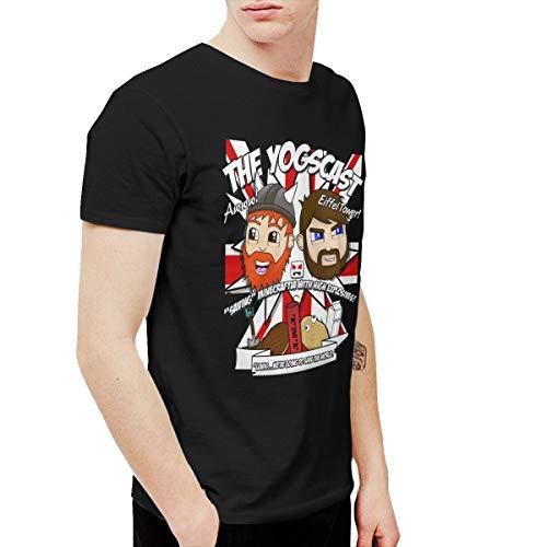 Douglas-A Mens Funny Yogscast Tshirt Black (Yogscast Shirts)
