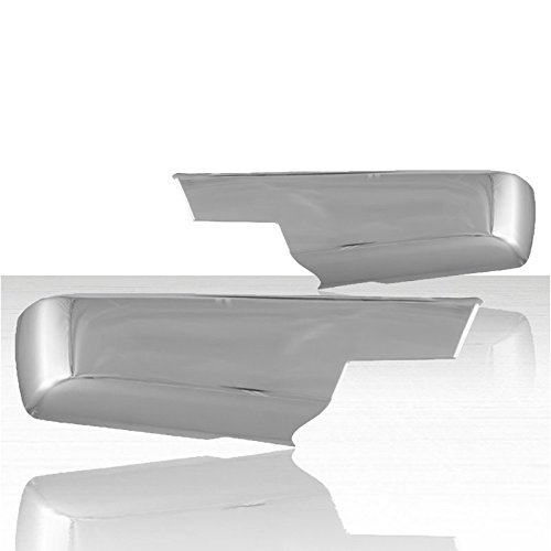 Auto Reflections Lower Mirror Cover Set for 2014-2015 Chevy Silverado - Chrome