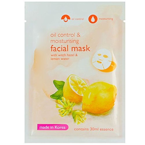 Hazel and Lemon Serum Facial Tissue Mask, with Witch Hazel &