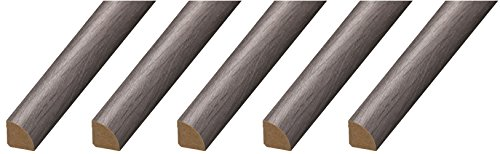 "CalFlor MD20015 Quarter Round ¾"" x ¾"" x 94"" Floor Base Molding for Wood, Laminate, WPC, LVT & Vinyl, 5 Pack, Gray, 5 Piece"