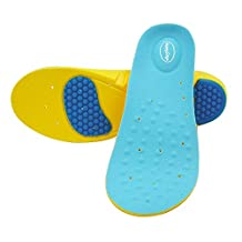 New Super Sport Support Memory Foam Orthotics Arch Shoe Insoles Pads Pain Relief, Easily cut your own size, Length 29 cm (for US men's size 8-11 or US women's size 10-13