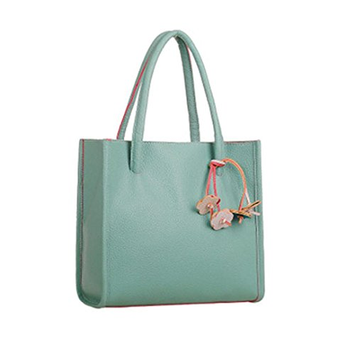 Quistal Women's Handbags Ladies Tote Large Capacity Shopping Bags Leather Top-Handle Bags Fashion Shoulder Bags Green