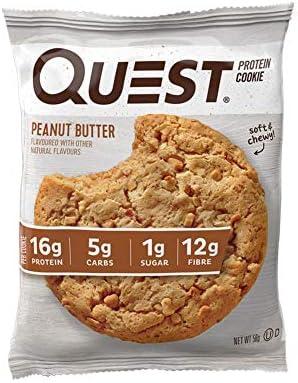 Quest Nutrition Protein Cookie Peanut Butter - 12 Barras: Amazon ...