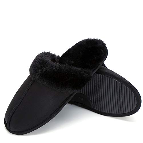 Buy womens slippers size 6 black