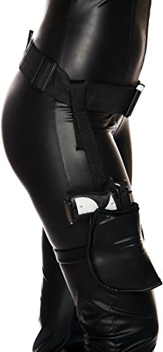 Roma Costume Women's Leg Holster with Connected Belt, Black, One Size from Roma Costume