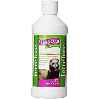 8 In 1 Pet Products SEOH409 Ferretone Skin and Coat Ferret Liquid Supplement, 16-Ounce