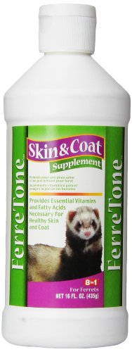 8in1 FerreTone Skin & Coat Supplement for Ferrets, 16 Ounces