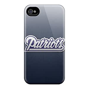 Protective Hard Phone Cover For Iphone 4/4s (TKl10147poAC) Allow Personal Design High Resolution New England Patriots Skin