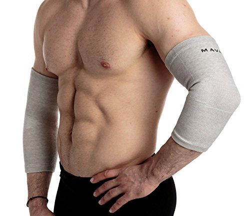 Mava Sports Elbow Sleeve Recovery Compression, Size M – Support for Workouts, Weightlifting, Arthritis, Tendonitis, Tennis and Golfer's Elbow – Bamboo Charcoal Athletic Elbow Compression (Elbow Sleeve Tissue)