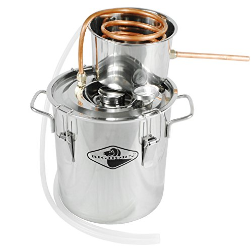 Big Horn 3 Gallon Distillation Kit | Stainless Steel Distilling Equipment | Make Alcohol, Essential Oils, Distilled Water, With This Home Distiller | 1 Year Warranty