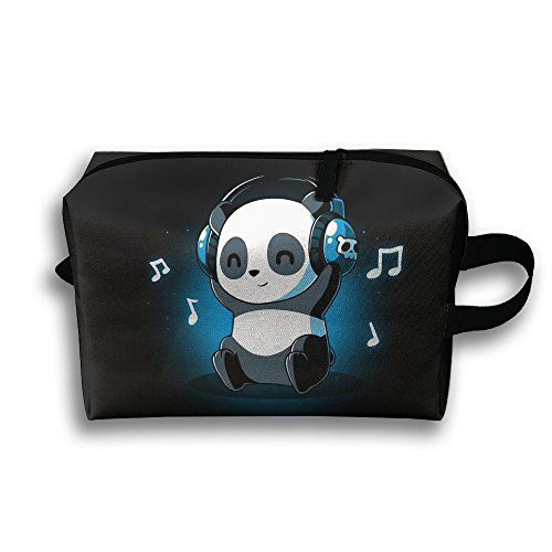 Panda Playlist Travel Cosmetic Bags Small Makeup Clutch Pouch Cosmetic And Toiletries Organizer - White Playlist Panda