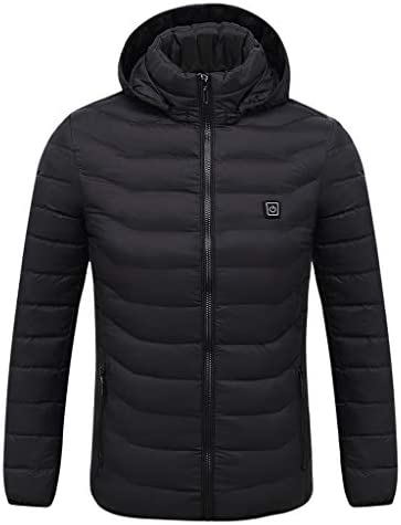 ZONGLIAN 電熱ダウンジャケット 知能発熱ダウンジャケット 電熱ジャケット 発熱コート 防寒対策 モバイルバッテリーUSB接続 電熱ヒアウトドアウエア 温度調整可能 冬の暖かいジャケット 男女兼用