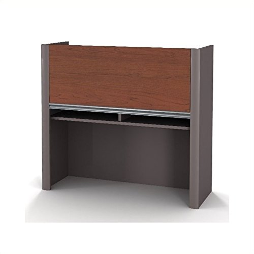 Scranton & Co Office Lateral File Hutch in Bordeaux and Slate