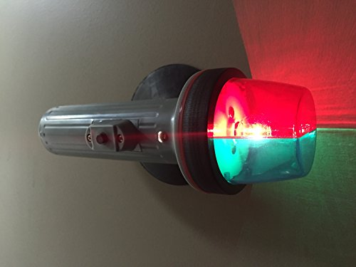 MARINE BOAT RED & GREEN PORTABLE BATTERY OPERATED LIGHT-BOW SUCTION 2 (Battery Operated Boat Lights)