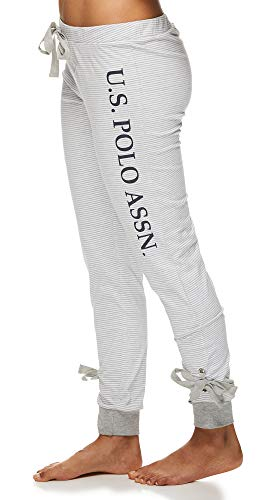U.S. Polo Assn. Womens Short Sleeve Shirt and Lounge Jogger Pajama Pants Sleepwear Set