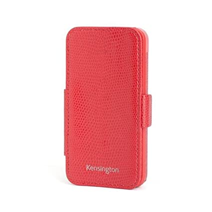 more photos c1e9b 6109a Kensington K39618WW Portafolio Duo Folio Wallet Case and Stand for iPhone 5  - 1 Pack - Carrying Case - Retail Packaging - Red Snakeskin