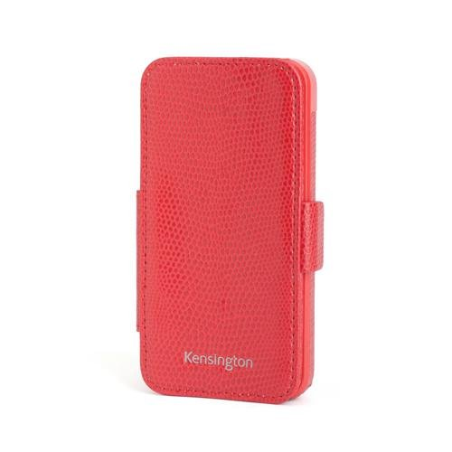 Portafolio Duo - Kensington K39618WW Portafolio Duo Folio Wallet Case and Stand for iPhone 5 - 1 Pack - Carrying Case - Retail Packaging - Red Snakeskin