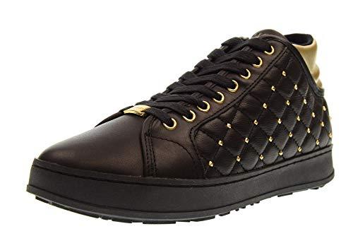 Donna matelasse Nero Interna Sneakers Alte Zeppa Smw07 Sibilla Scarpe Apepazza HqTw50RT