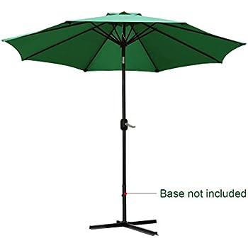 Quictent 9FT Patio Umbrella Tilt Aluminum Outdoor Market Umbrella With  Crank And Wind Vent 100%