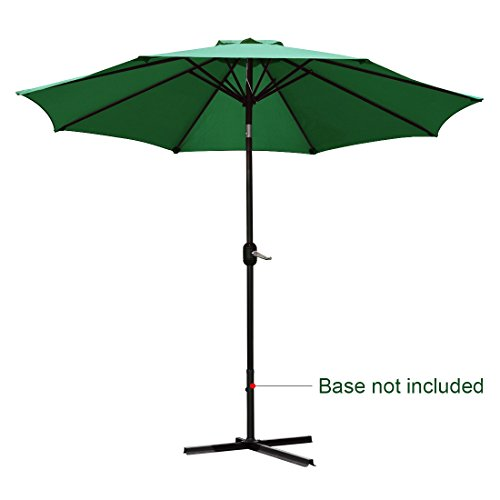 Quictent 9FT Patio Umbrella Tilt Aluminum Outdoor Market Umbrella Crank Wind Vent 100% Polyester-4 Colors (Green)