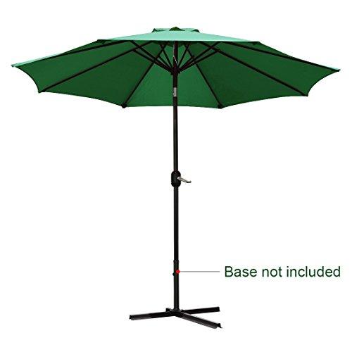 Quictent 9FT Patio Umbrella Tilt Aluminum Outdoor Market Umbrella Crank Wind Vent 100% Polyester-4 Colors (Green)