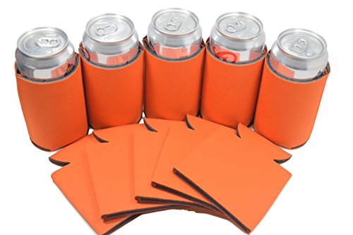 [25 Neon Orange Premium Blank Can Coolers Sleeves Can For Coolies Beer,Soft Drink, Economy Bulk Awesome For Events,Costume DIY, Parties,Business (25, Neon] (Beer Koozie Costume)