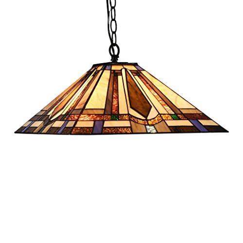 Real Stained Glass Tiffany Style Handcrafted Pendant Light in US - 7